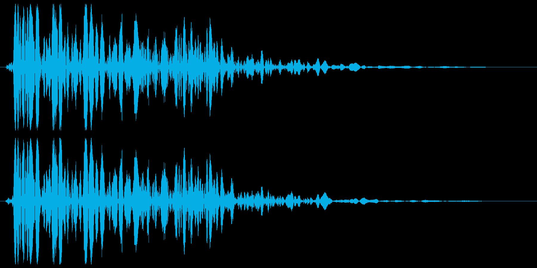 ザザーン(雪や砂の効果音)の再生済みの波形
