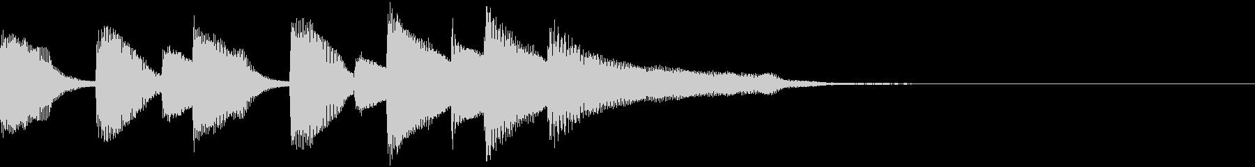 場面転換ほのぼの系のピアノの未再生の波形
