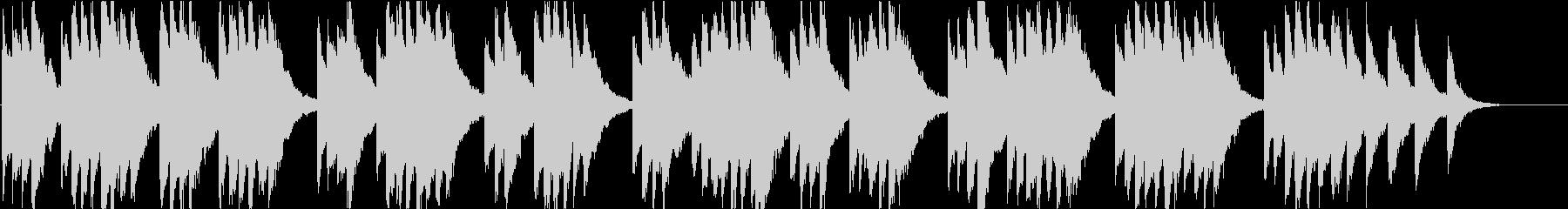 時報・チャイム風の名曲のメロディ・10の未再生の波形