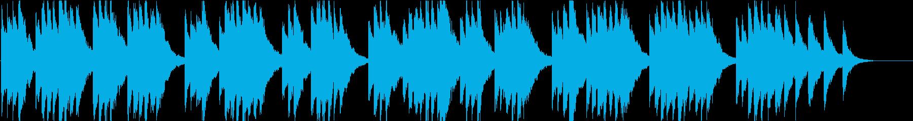 時報・チャイム風の名曲のメロディ・10の再生済みの波形