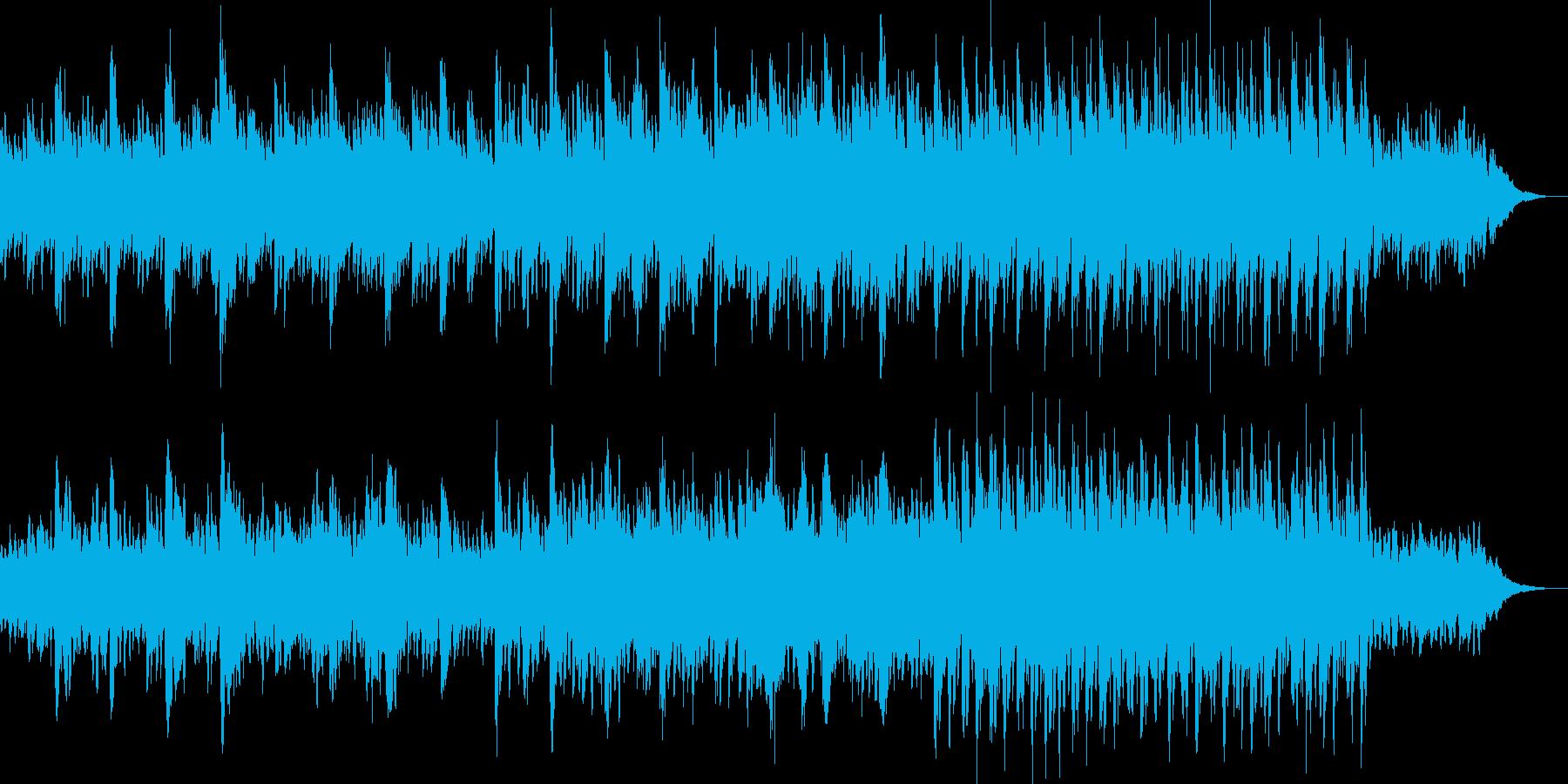 爽やかで穏やかな不思議な雰囲気の曲の再生済みの波形