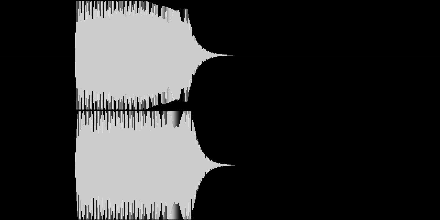 ジャンプ、ぴょん、ぽい、ポップな上昇音の未再生の波形