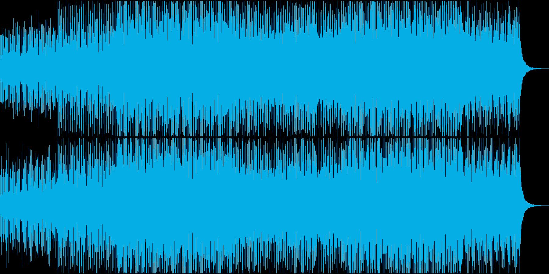 【CM・映像】爽やかなエレクトロBGMの再生済みの波形