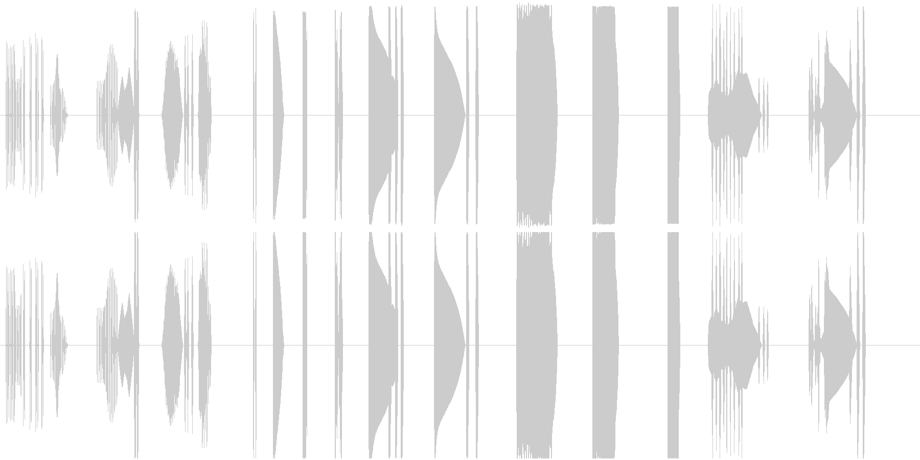 【SFなコンピュータ操作とピコピコ音】の未再生の波形
