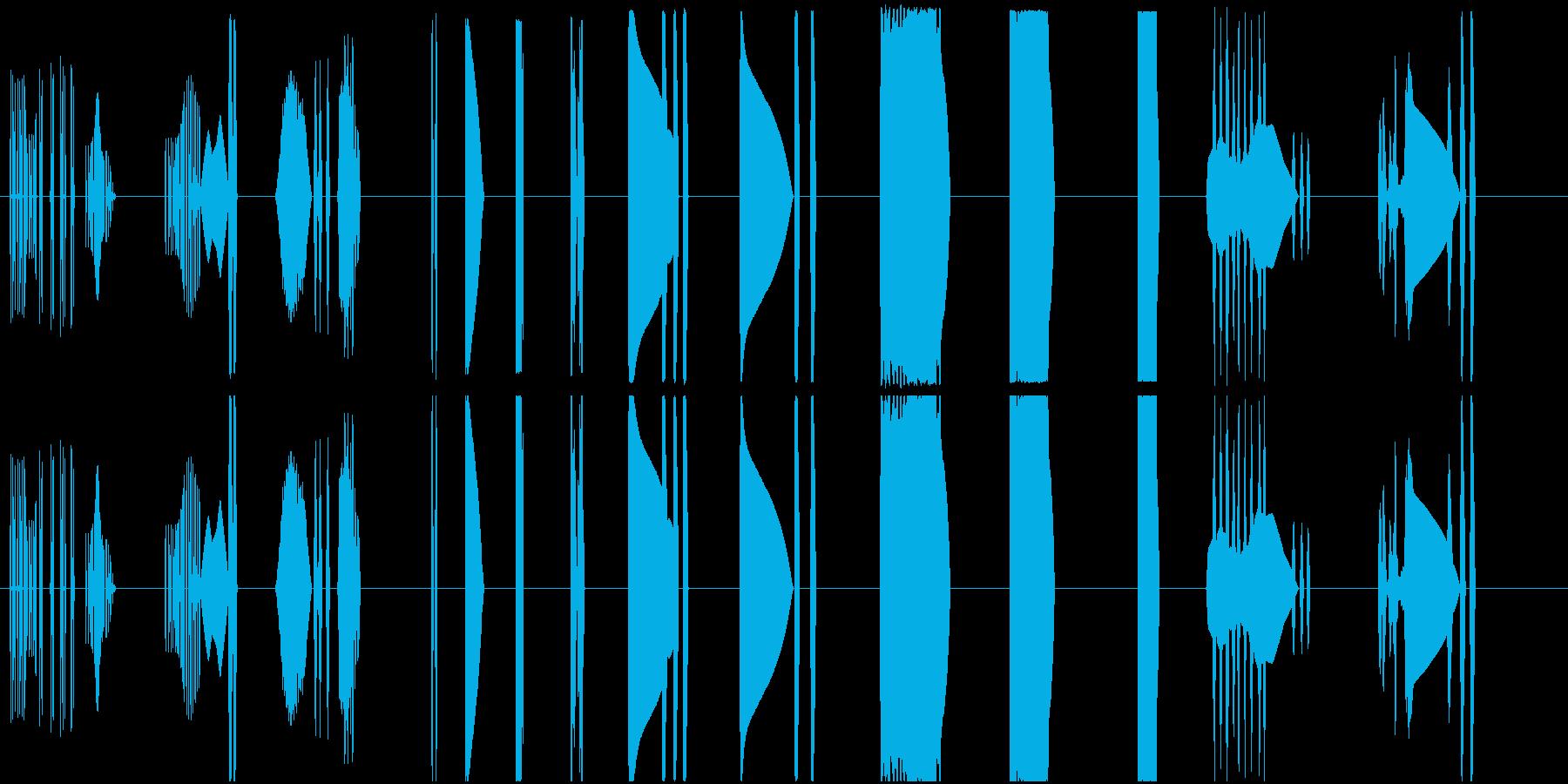 【SFなコンピュータ操作とピコピコ音】の再生済みの波形