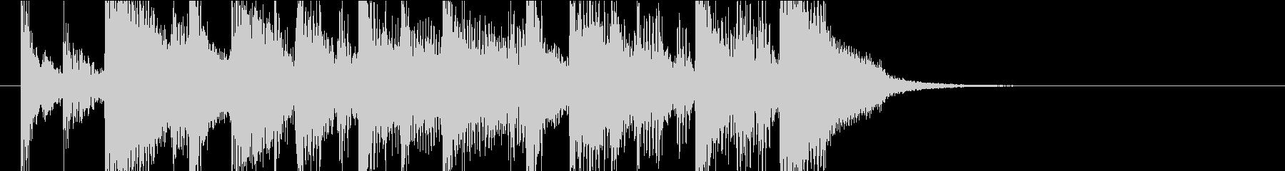 9秒・アコギとピアノの爽やかジングルの未再生の波形
