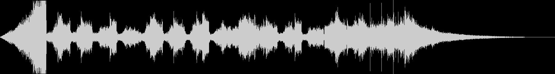 チルアウトおしゃれなトロピカルハウスeの未再生の波形