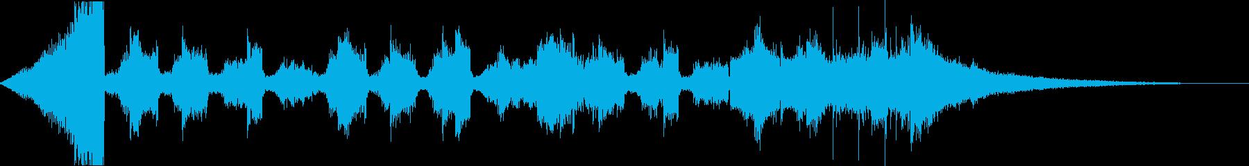 チルアウトおしゃれなトロピカルハウスeの再生済みの波形