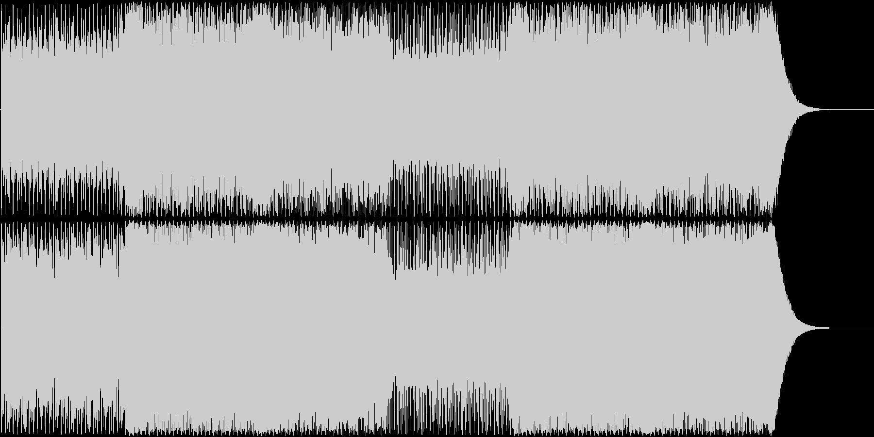 シリアスかつパワフルなEDMの未再生の波形