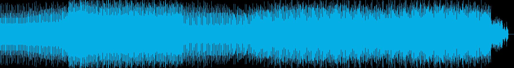 軽快な爽やかポップの再生済みの波形