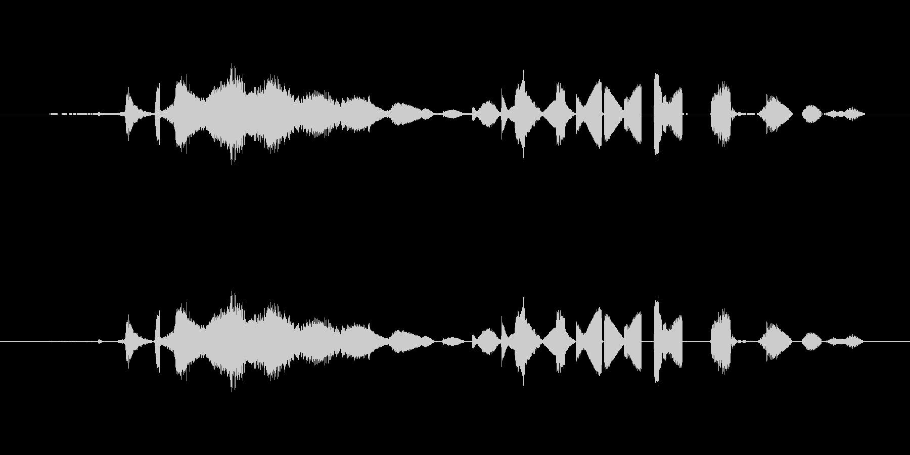 特撮 グリッチを確認03の未再生の波形