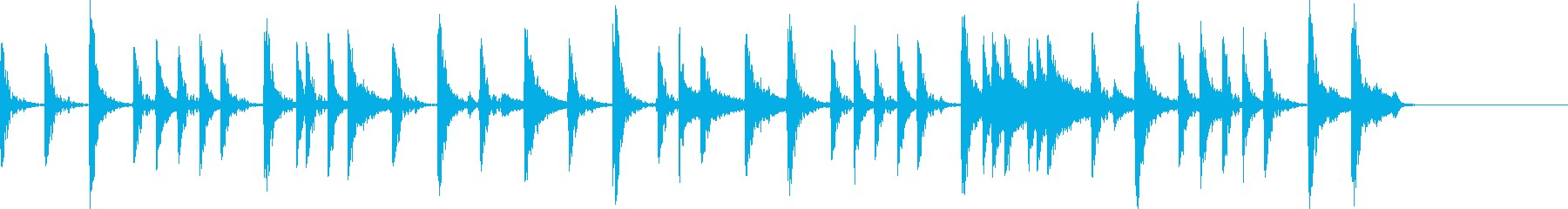 生ドラム_4小節リズムサンプリングの再生済みの波形