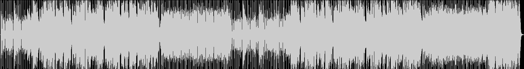 Barで流れるジャズテイスト明るいBGMの未再生の波形