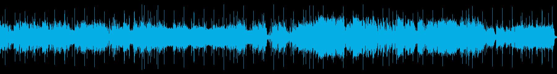 響くサックスの音色を楽しむスローロックの再生済みの波形