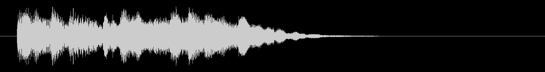 柔らかい音色のオルガンによるサウンドロゴの未再生の波形