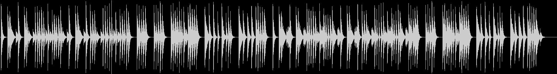木琴で作ったコミカルで短い曲の未再生の波形