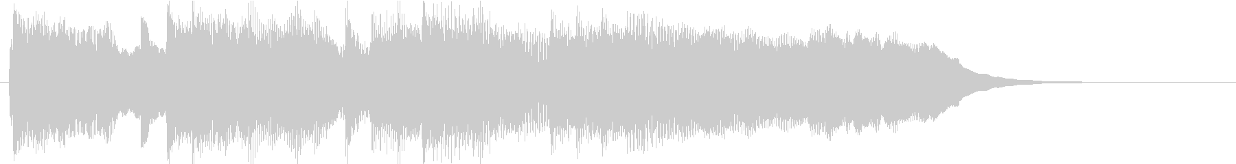 高音を抑えたシンセが特徴的なサウンドロゴの未再生の波形