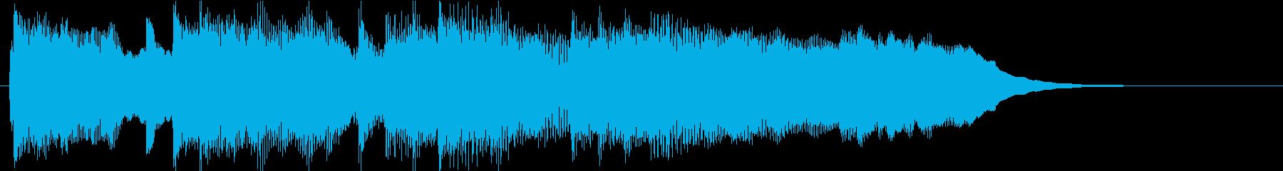 高音を抑えたシンセが特徴的なサウンドロゴの再生済みの波形
