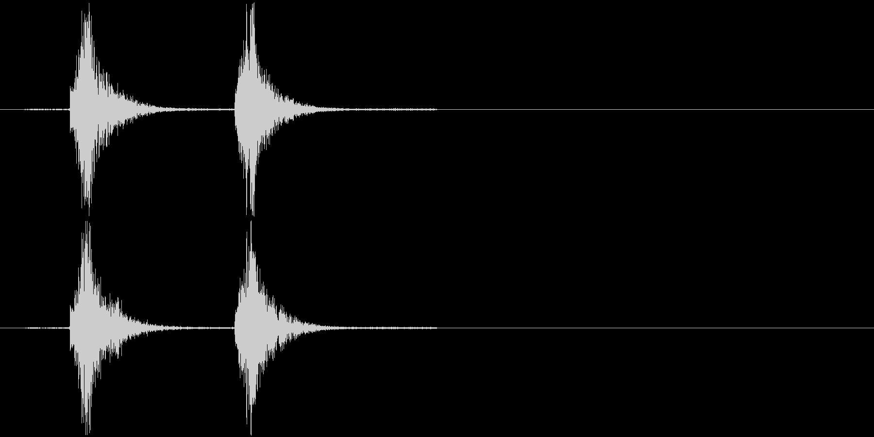 コンコン_咳1の未再生の波形