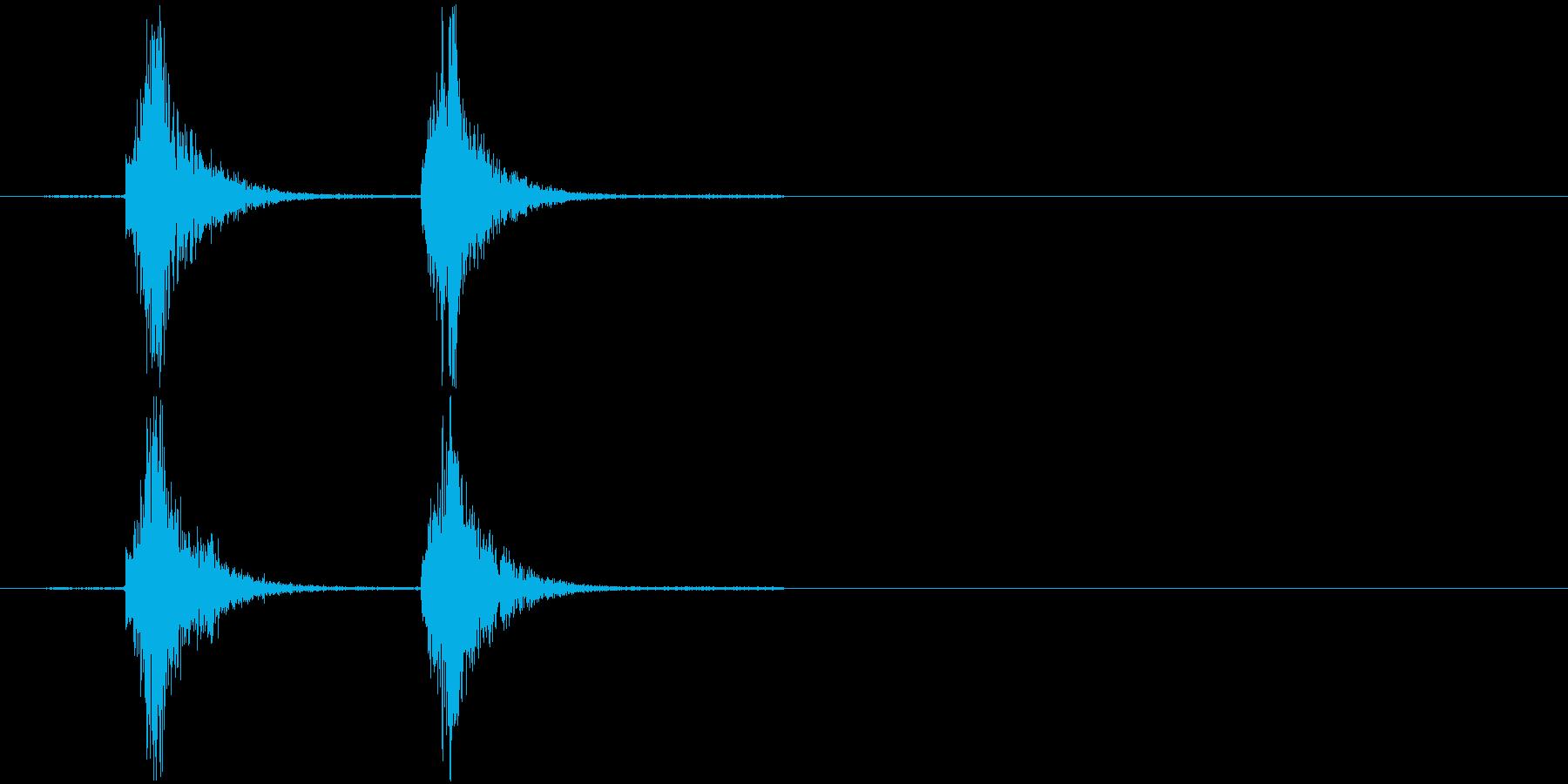 コンコン_咳1の再生済みの波形