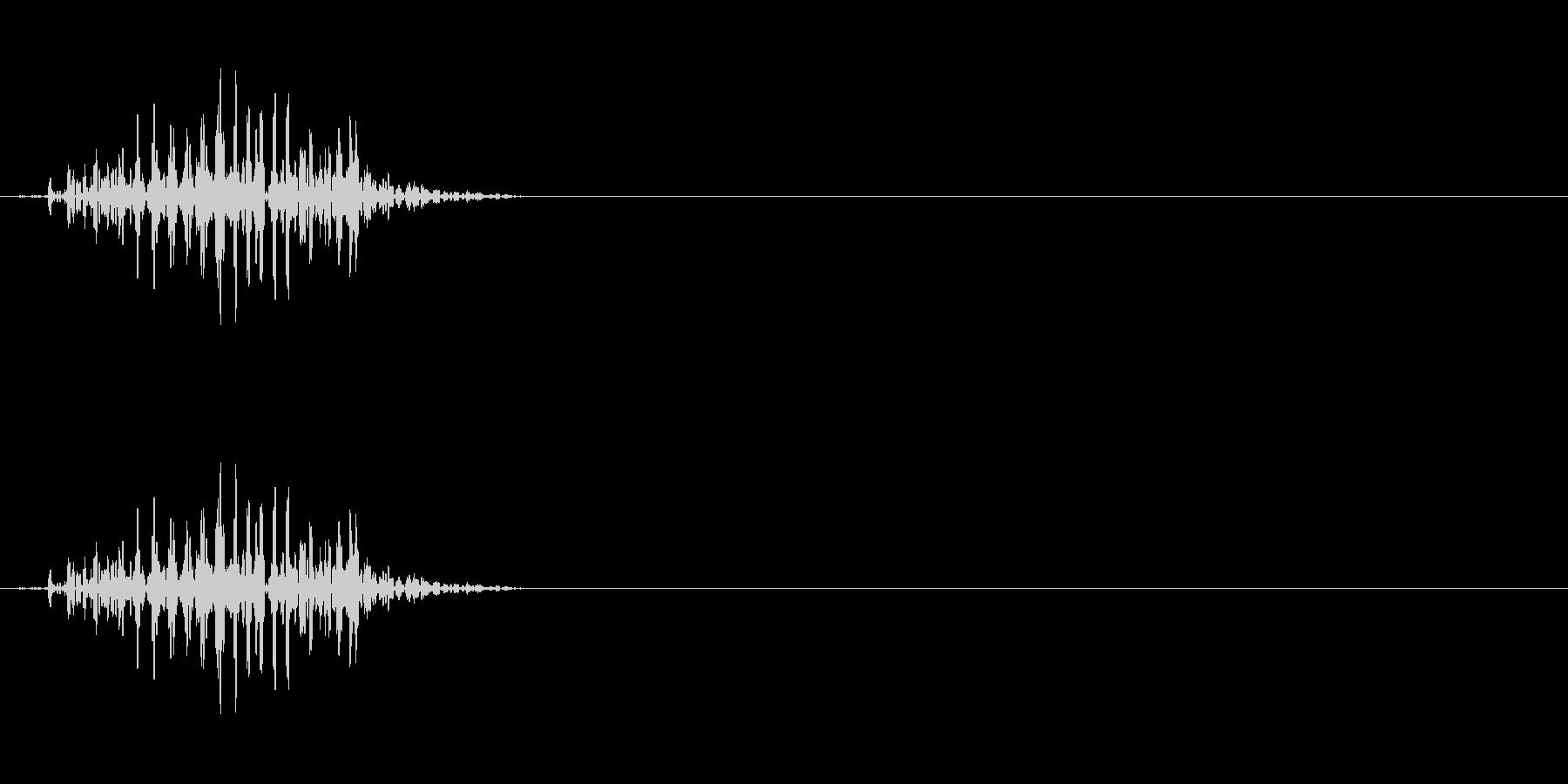 クリーチャーの発声 1の未再生の波形