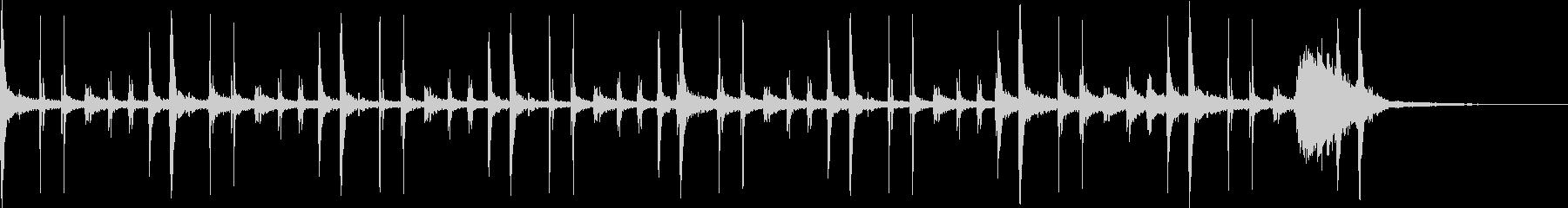 ラテンシンバルパーカッショングルーブの未再生の波形