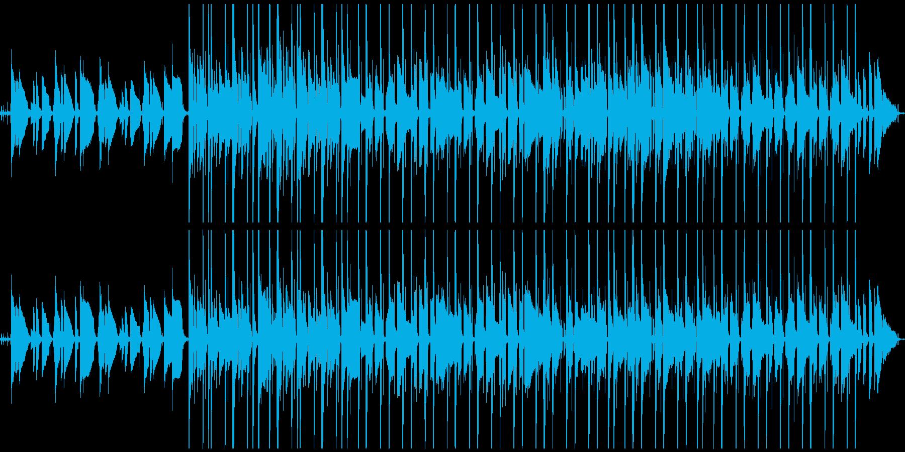 lofiでミニマルなBGMの再生済みの波形