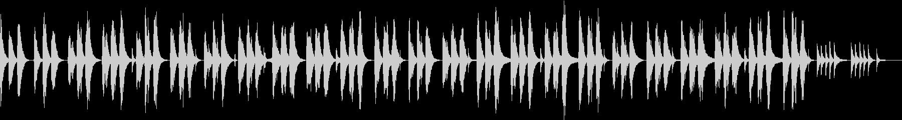軽快なピアノのメロディで眠れる夜の未再生の波形