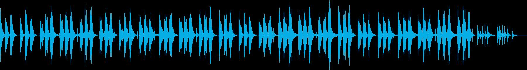 軽快なピアノのメロディで眠れる夜の再生済みの波形