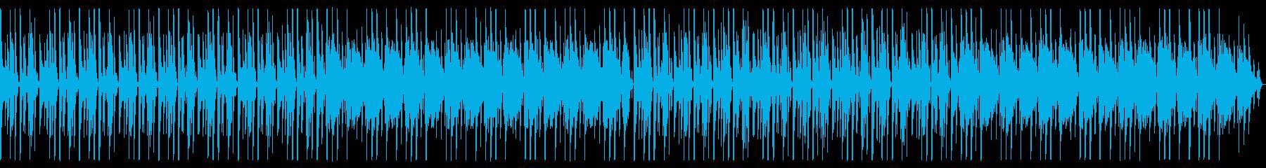 レースゲーム向けテクノの再生済みの波形