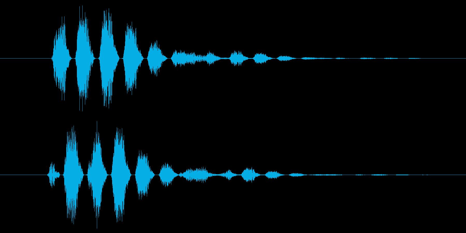 ピュン(決定音、呪文など色々使える音)の再生済みの波形