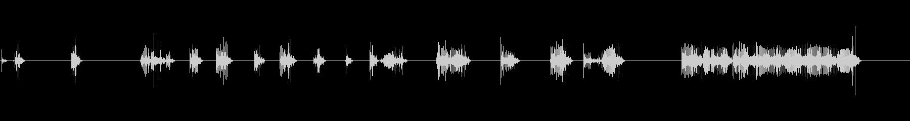 機械的なノイズ:無線などの未再生の波形