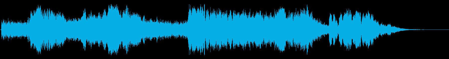 朝もやの中から聞こえてきそうなBGMの再生済みの波形
