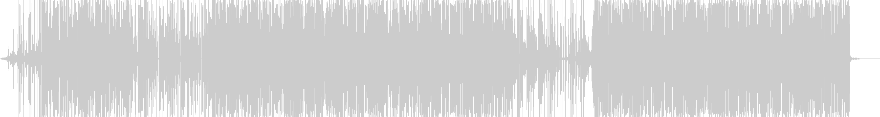メロウな打ち込み系BGMの未再生の波形