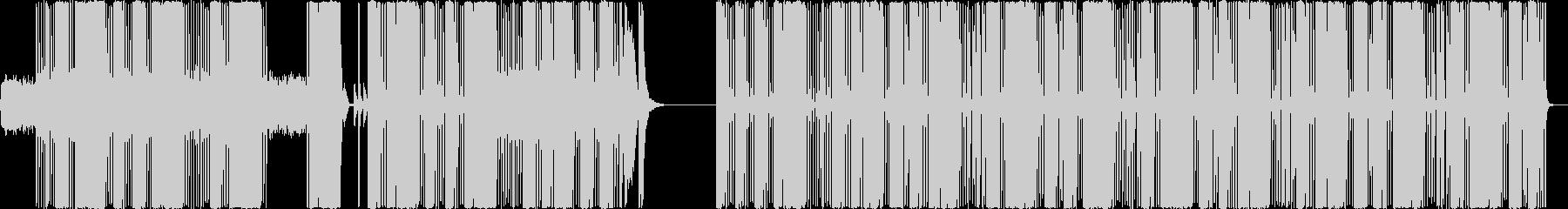 シンセとリズムマシーンのシリアスな曲の未再生の波形