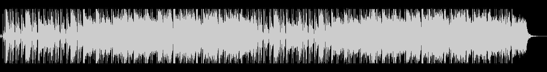 ボサノバのリズムのさわやかな曲の未再生の波形