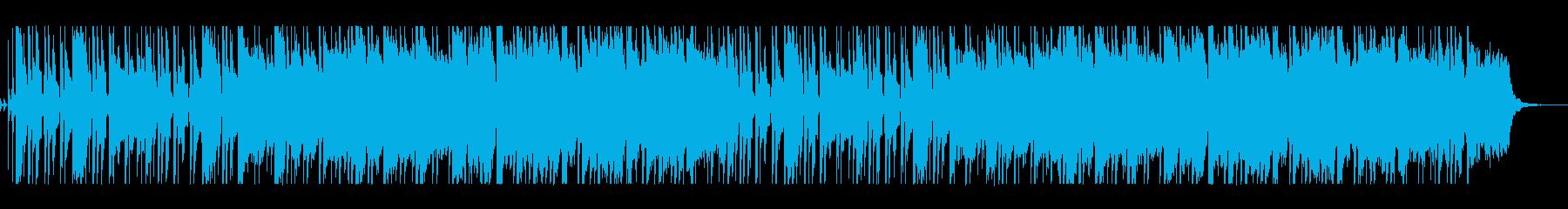 ボサノバのリズムのさわやかな曲の再生済みの波形