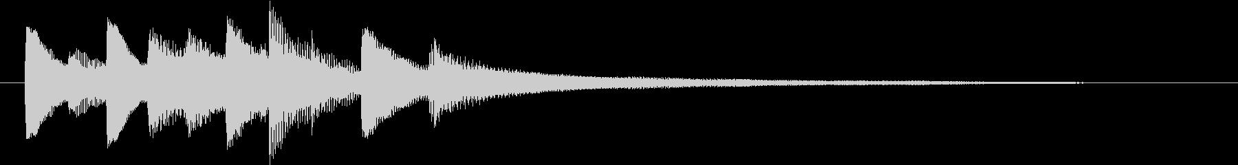 CMや映像に温かいピアノジングル v3の未再生の波形