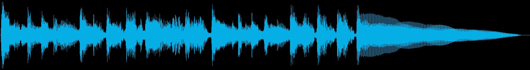 バーナードセグ1、ギター、ベース、ドラムの再生済みの波形