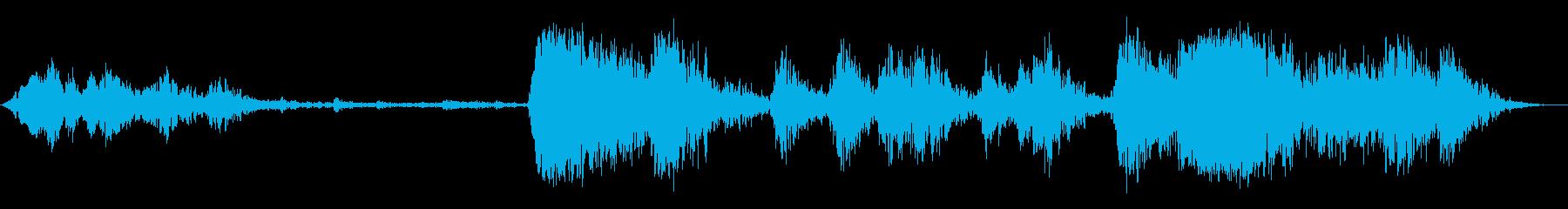 低拡散金属ガラガラの再生済みの波形