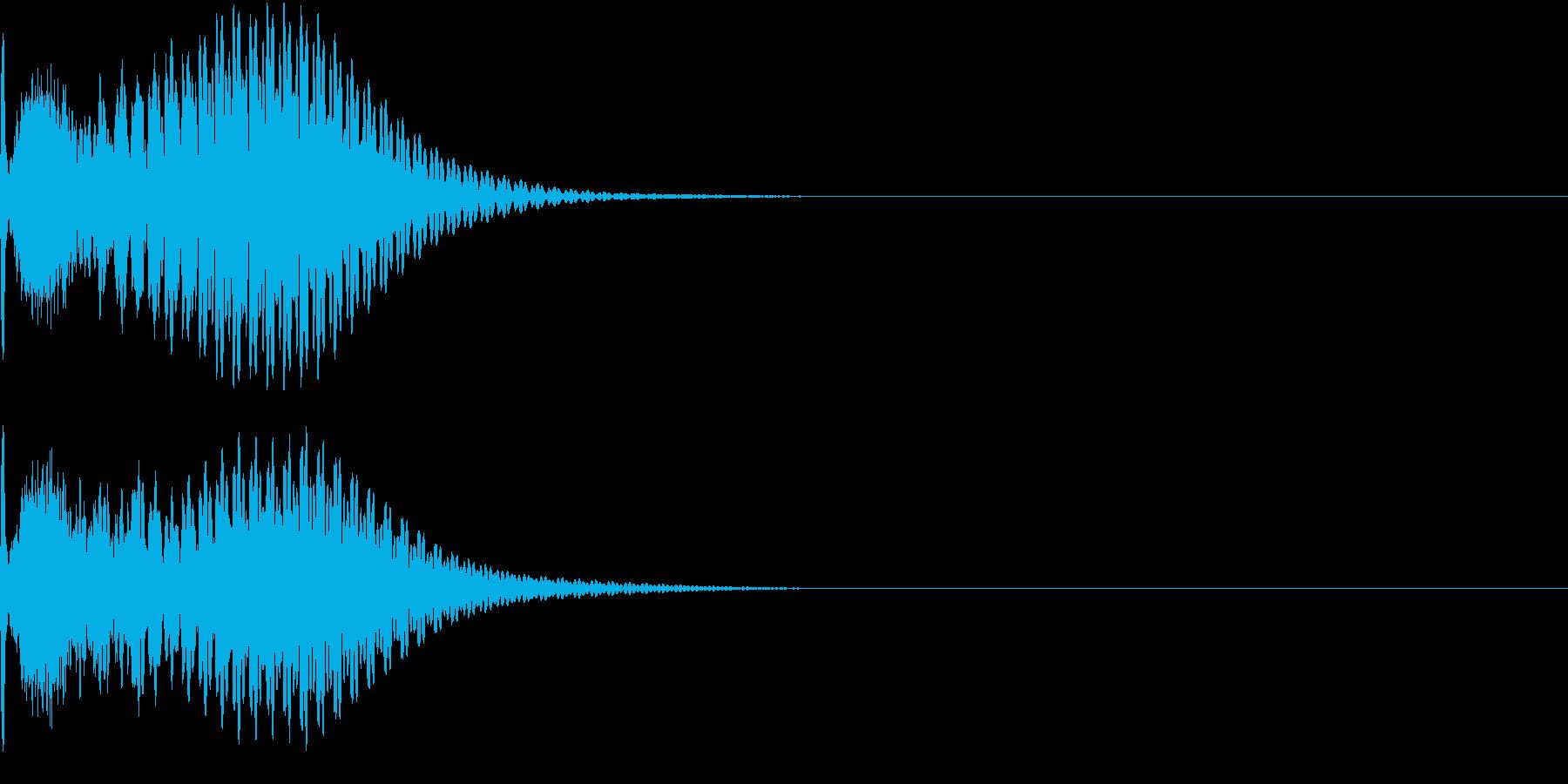 キュイン 光 ピカーン フラッシュ 04の再生済みの波形