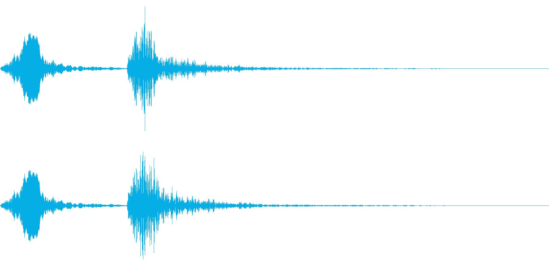 「おおっ・・・ドドン!」の再生済みの波形