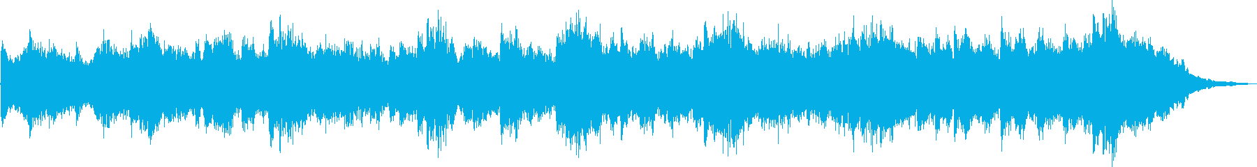 ピアノとシンセの癒し系BGMの再生済みの波形