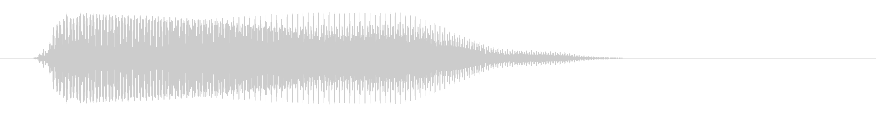 ゲーム内で何かが出てくる音の未再生の波形