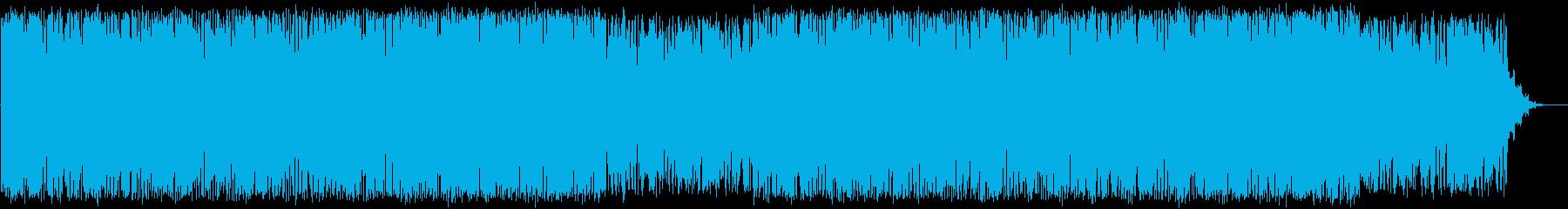不穏なテクスチャーの再生済みの波形