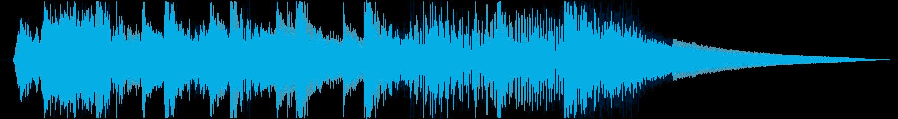 和太鼓と三味線の軽快な和風ジングルの再生済みの波形
