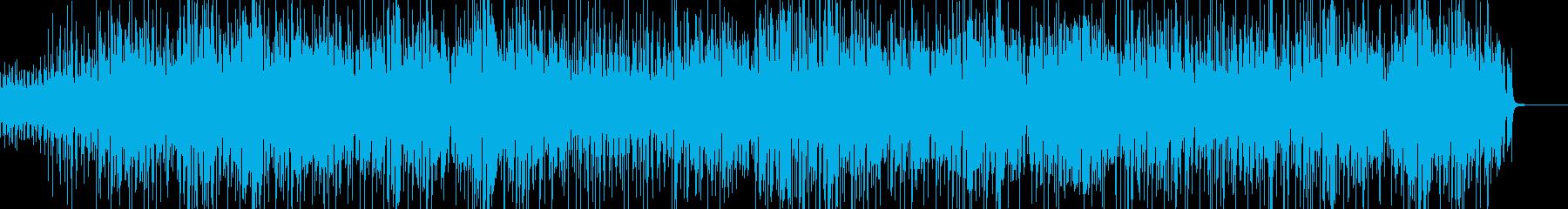 バンドサウンドの洋楽風ポップ・ラブソングの再生済みの波形