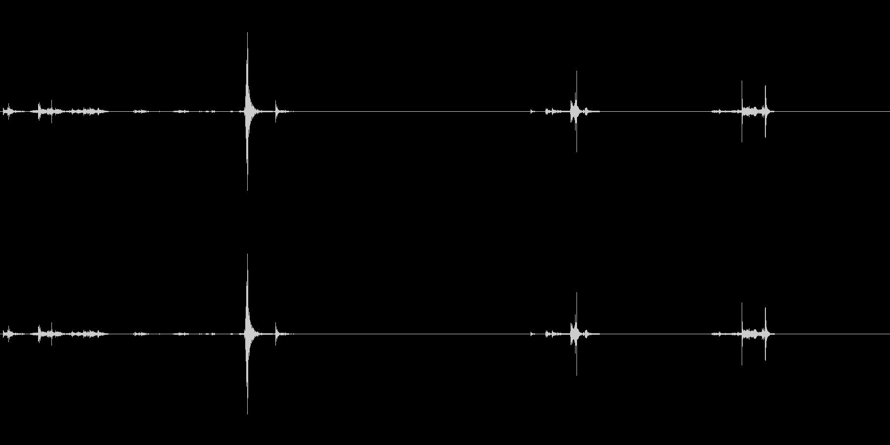 フロッピーディスクの挿入と抜去#2の未再生の波形