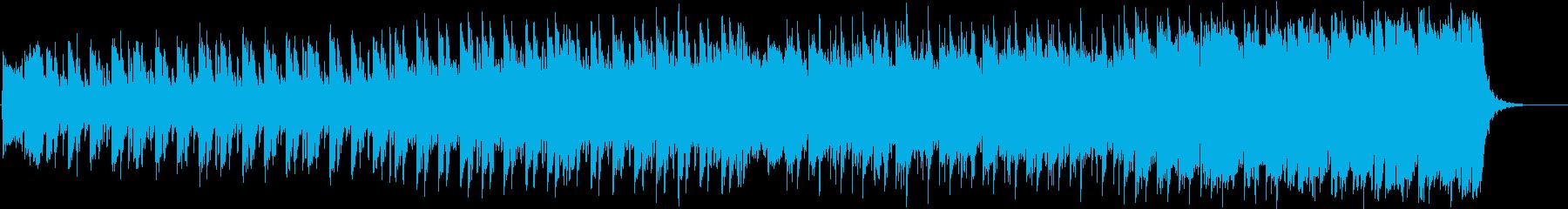 聖歌隊とシンセ、壮大で幻想的なオケBGMの再生済みの波形