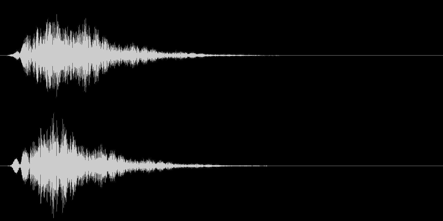 ブワワシュワワワ(怪しい・不思議・奇妙)の未再生の波形